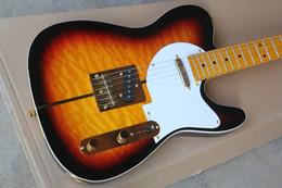 Hot Sale Tuff Dog Quilt Maple Custom Shop Merle Haggard Signature Sunburst Guitare électrique TL Golden Hardware Livraison gratuite à partir de guitares de signature à vendre fabricateur