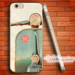 Capa The Blue Vespa Dust Plug Soft Clear TPU Case for iPhone 6 6S 7 Plus 5S SE 5 5C 4S 4 Case Silicone Cover.