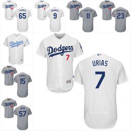 Wholesale Men s Los Angeles Dodgers Julio Urias Alex Wood Austin Barnes Kyle Farmer Flex Base onfield Jersey