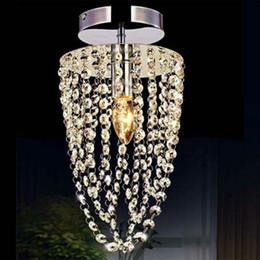 Small Led Chandelier Light E12 E14 Crystal Mini Pendant Lights Flush Mount Hanging Lamps Hallway Lighting Fixture 110V 220V