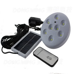 Wholesale Solar Panel Powered LED Light remote control can be charged by solar panel or Alternating current outdoor solar led Light Lamp