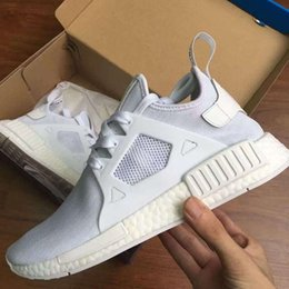 Wholesale With Original Box Adult And Children NMD XR1 Glitch Black White Blue Camo Men Women Baby Kids Runing Shoes