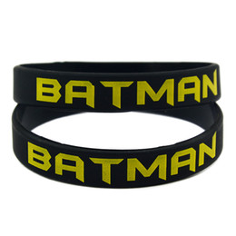 100PCS Lot Printed Batman Logo Wristband Silicone Bracelet Perfect To Use In Any Benefits Gift For Gamers