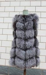 2017 Female Long Faux Fur coat Vest Imitation Mink Hair Fox Fur Coat Female Waistcoat Elegant Warm wholesale Clothing womens
