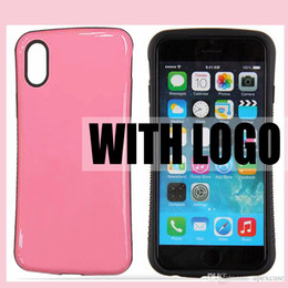 For iphone 6s plus iphone x s8 s8plus Hybrid 2 in 1 Hard Rubber Case Candy Colors for Samsung Galaxy s7 note 8