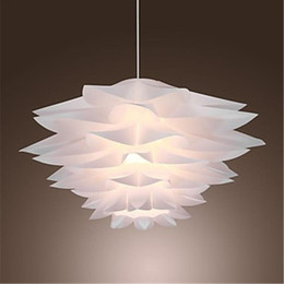 60W Floral Pendant Light Lamp in Petal Featured Shade E27 Led Light for Bedroom Dining Room Game Room in Modern Contemporary Artistic style