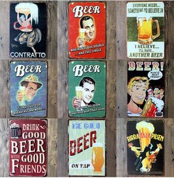 Wholesale New Arrive Wine from around the world tin signs home decor House Cafe Bar iron painting Metal Craft gift