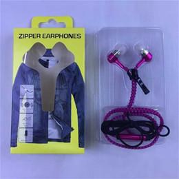 2017 mains libres universel Zipper Ecouteur Étoile 3.5mm Jack Écouteurs Basse Écouteurs mains libres tressées en oreille Métal avec Mic Earbuds pour iPhone Samsung MP3 mains libres universel ventes