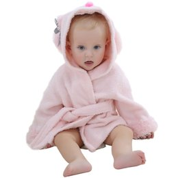 Wholesale IDGIRL One piece Baby Kids Clothing Baby Bathrobe Towel Hooded Baby Romper Boys Girls Pajamas