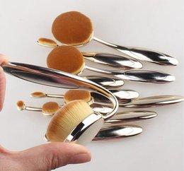 Wholesale 10pcs Colorful Makeup Brushes set pieces set Anas M Oval Makeup Brush Cosmetic Foundation BB Cream Powder Blush Brushes kit