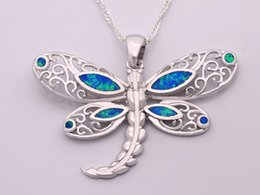 Wholesale & Retail Fashion Jewelry Fine Blue&White Fire Opal Stone Silver Plated Pendants For Women PJ16011014