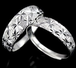 Fashion 925 sterling Silver plating Copper Endless Love Wedding Gemstone Open Rings For Couple 30pcs Free Shipping