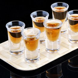 Wholesale 12pcs High Quality Liquor Cup Shot Glass Small Wine Glass Cup Bar White wine vodka glass Drinkware