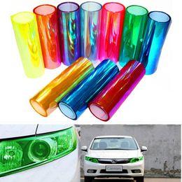 Changement de couleur des phares en Ligne-Papier peint autocollant en vinyle film intérieur automobile changement de corps film couleur film 30 cm autocollant voiture autocollant papier fibre de carbone