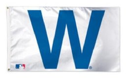 Wholesale Chicago Cubs team flag X baseball hokey fan flag X cm banner brass metal holes flag