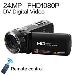 "Remote Control 1080P Full HD digital Video Camera 3.0"" LCD Touch Screen 24 MP 16x Digital Zoom Camcorder DV+Wide Angle Lens"