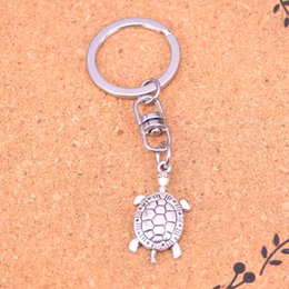 New Fashion turtle sea Keychains Antique Silver plated Keyholder fashion Solid Pendant Keyring gift