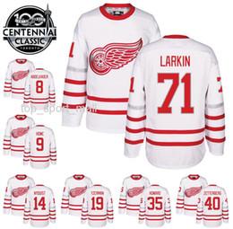 Wholesale 2017 Centennial Classic Jerseys Hockey th Anniversary Detroit Red Wings Dylan Larkin Gordie Howe Steve Yzerman Pavel Datsyuk