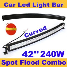 42 pouces 240W incurvée Spot Flood Combo Beam Led Light Bar conduit de travail de lumière pour 4WD ATV hors route camion SUV Jeep Wagon Traveller Camping voiture à partir de 42 barres lumineuses dirigées fabricateur