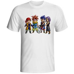 Four swordsman from the cartoon game men and women T-shirt cross novel fashion fashion T-shirt leisure rock neutral three links
