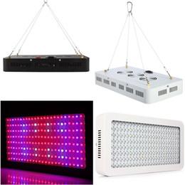 Скидка синяя панель Двойные обломоки 120x10watt СИД растут свет 1200w Выращивают панель диапазон 9 полных спектров красный голубой белизну UV иК вело завод растущие светильники освещения