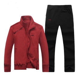 Wholesale Men Cotton Thick Warm Sportswear Suit Autumn Winter Sports Training Table Tennis Badminton Gym Jogger Running Sets