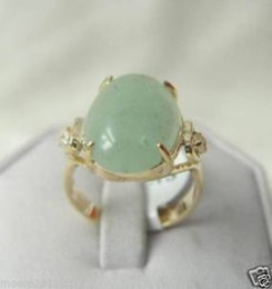 free shipping >Genuine Noblest green Shell pearl Crystal jade silver ring lady's Ring SIZE 7#, 8#, 9#
