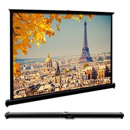 Portable 50 Inches Foldable Collapsible Projector Screen Widescreen for Desktop Presentation Movies Video Games Desk Top Screen 4:3