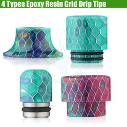 Newest Epoxy Resin Grid Drip Tips Wave Wide Bore Mouthpiece for Kennedy TFV8 510 Vaporizer vapor mods RDA Tank atomizer tip ecig dripper DHL