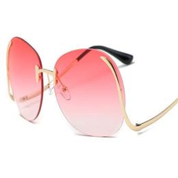 Wholesale DHL Rimless Eyeglasses for Women Colorful Designer Frameless Sunglasses Fashion Metal Sunglasses Bent Glasses Leg Luxury Ladies Sun Glasses
