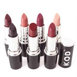 Wholesale HOT High Quality colors Brand KOD Matte Lipstick Moisturizer Waterproof Nude lip stick lipgloss DHL