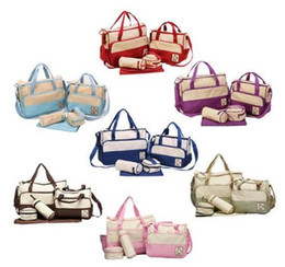 Wholesale Fashion Mummy Bag set Diaper Bag Mother Handbags For Baby High Quality Changing Bags colors For Baby Nappy