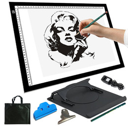 Wholesale Alent quot LED Artist Stencil Board Tattoo Drawing Tracing Table Display Light Box Pad
