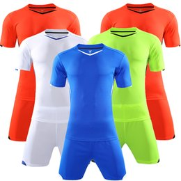 Orange Football Jersey and Shorts Sleeve Training Suit Clothes Set Men Soccer Sets Uniforms Quick Dry Sports Clothing Adult Wear