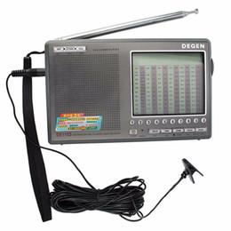 Wholesale Degen DE1103 Radio DSP FM SW MW LW SSB Digital World Receiver External Antenna Portable Radio Recorder Best Y4162H