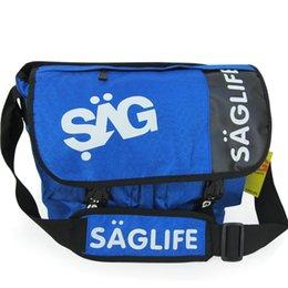 Sac messager Saglife Sacoche bleue noire en couleur bleue Sacoche sport en plein air à partir de le sport bleu paquets de plein air fabricateur