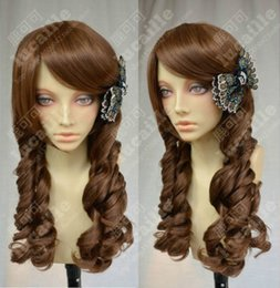 European brown thick volumes Rome lolita Cosplay Wig FREE SHIPPING