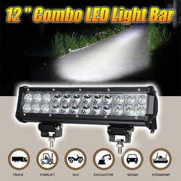 12inch 72W LED Work Drive Light Lamp Bar Combo Offroad Light 12V For ATV SUV 4WD 4X4 Boating Truck Tractor CREE Chips