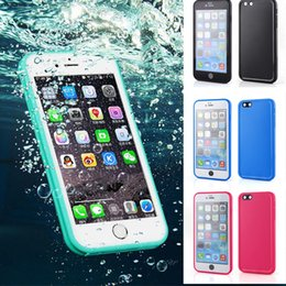 Water Resistant shatterproof sport Ultra Thin phone case for iPhone 6s 6 7 8plus 5 5s 360 degrees full body Soft Silicone protection