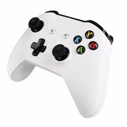 Blanco xbox palanca de mando en Línea-Nuevo joystick inalámbrico de Microsoft Bluetooth V4.0 Black / Gamepad blanco controlador para Xbox One S Professional consola de juegos de regalo