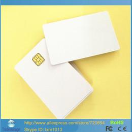 Impresoras de inyección de tinta gratis en Línea-Venta al por mayor-50PCS / Lote 5 Contacto ISO 7816 SLE4428 Inkjet Printable Smart Card PVC para impresora de inyección de tinta Doble Impresión lateral Envío Gratis