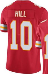 Wholesale Elite Tyreek Hill White red home Road Kansas City shirts jersey size extra small S xl xl