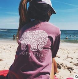 Wholesale El nuevo comercio exterior de la ropa de las mujeres de la camiseta larga de la manga el elefante original imprime el estilo caliente de la capa de la decoración en Europa y América
