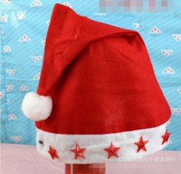 LED christmas hat red star carnival festival holiday supplies party