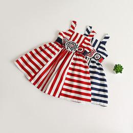 Скидка красные синие цветы Everweekend девушки Stripes оборками платье партии цветов Ремни Сладкий красный и синий цвет лето платье партии