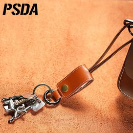 PU Leather Key USB Cable For Samsung S6 S7 Universal Data Cable 30cm Android Charging Adapter Metal Plug Micro USB