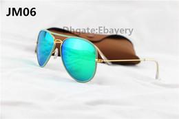 Espejo de cristal clásico en venta-30pcs Gafas de sol clásicas Eyewear de los vidrios de sol de las gafas de sol del piloto del diseñador para el Mens Womes a todo color lente de cristal de la lente de cristal del flash del espejo de 58m m Verde