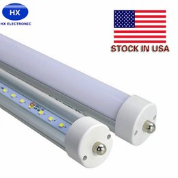 Stock In US + 8 feet led 8ft single pin t8 FA8 Single Pin LED Tube Lights 48W 4800Lm LED Fluorescent Tube