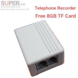 Wholesale Free GB landline TELEPHONE monitor micro SD card telephone recorder Landphone monitor recorder voice activated voice recorder