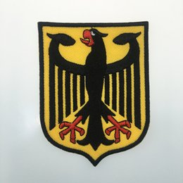 MORALE GERMANY DER BUNDESADLER DEUTSCHLAND EMBROIDERED IRON ON PATCH GERMAN EAGLE COAT OF ARMS SHIELD PATCH IRON ON CLOTHING